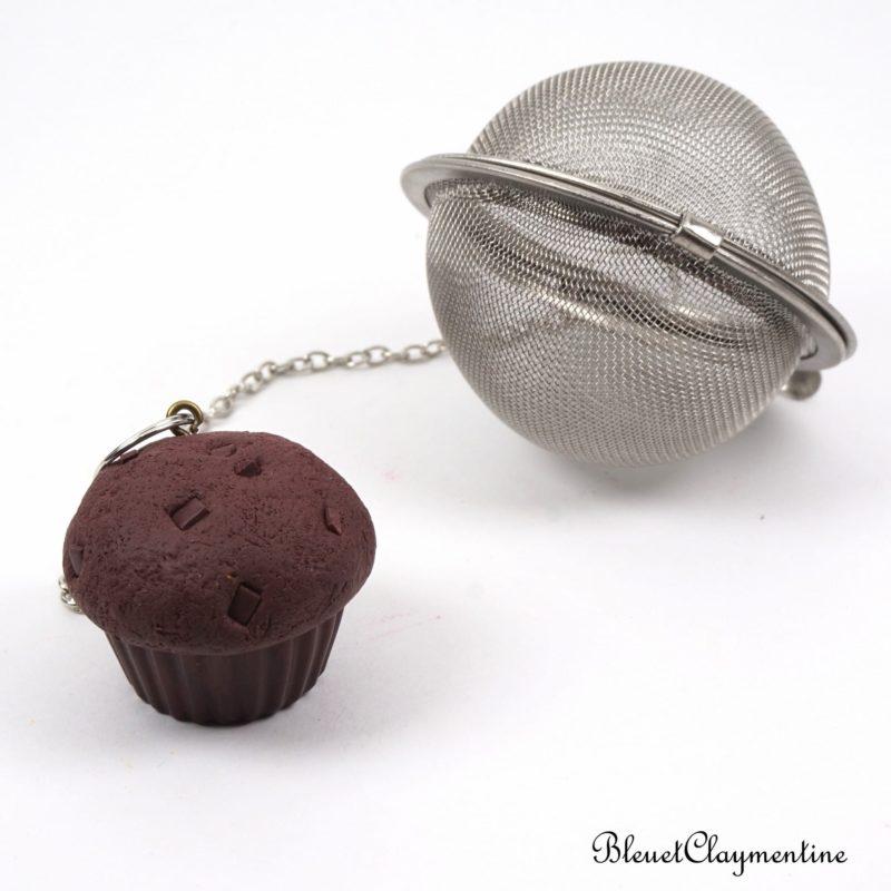 boule à thé muffins polymère fimo