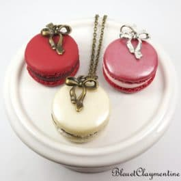 colliers macaron polymère fimo
