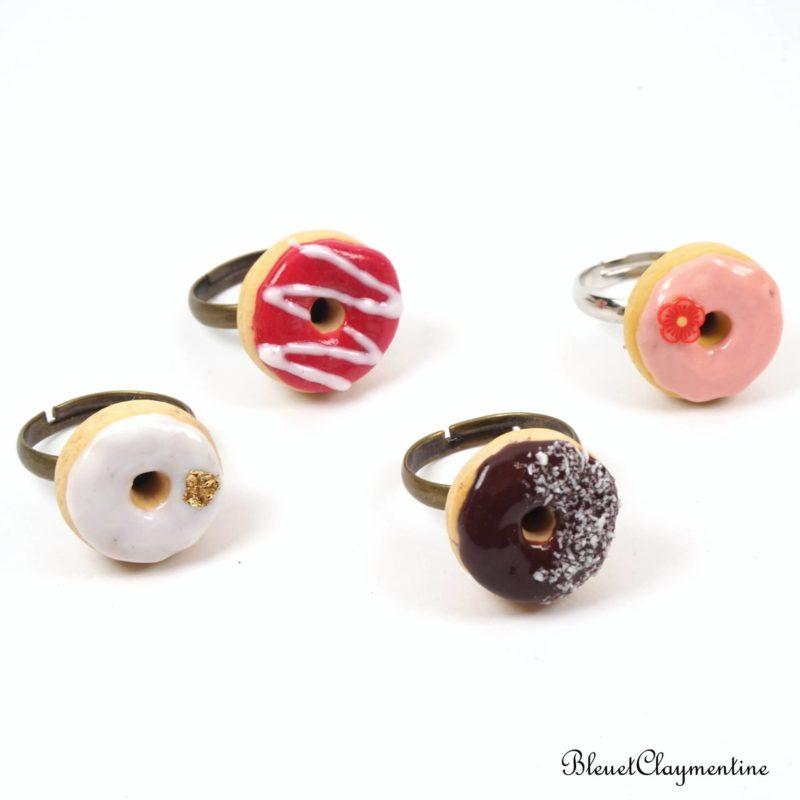 bague donut polymère fimo