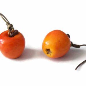 Boucles d'oreilles Pomme réaliste