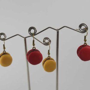 Boucles d'oreilles Macaron – Couleur au choix
