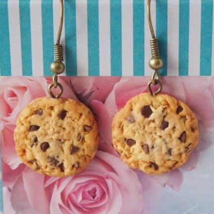 boucles d'oreilles cookies fimo