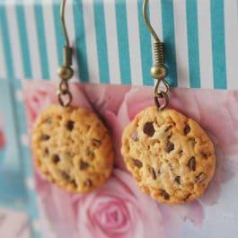 Boucles d'oreilles Cookies chocolat