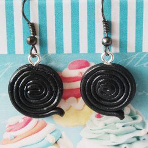 Boucles d'oreilles Réglisse noir