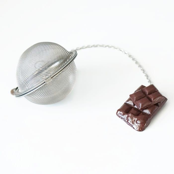 boule à thé chocolat polymère fimo