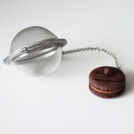 boule à thé macaron chocolat fimo