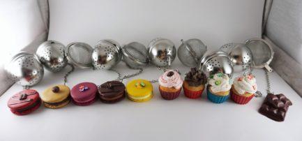 boule à thé macaron cupcake chocolat donut polymère fimo