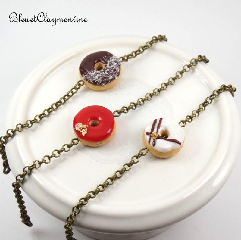 bracelet donut polymère fimo