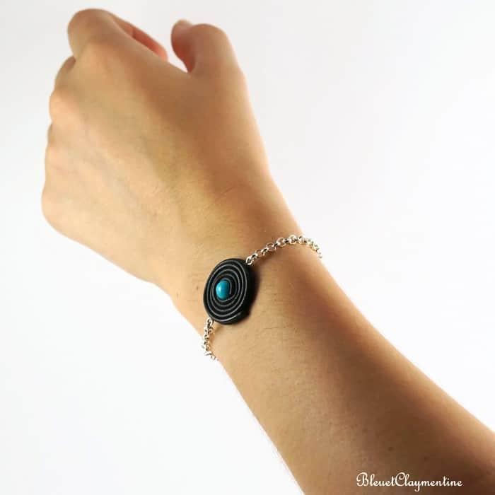 bracelet réglisse bleu