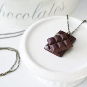 Collier tablette de chocolat