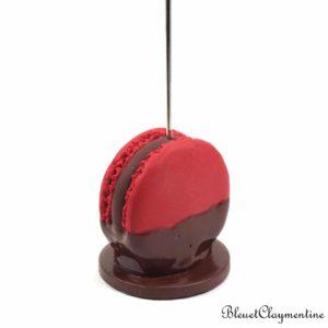 Porte-photo Macaron rouge chocolat