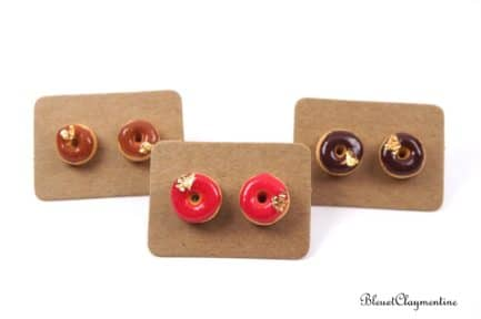 puce oreilles donuts fimo