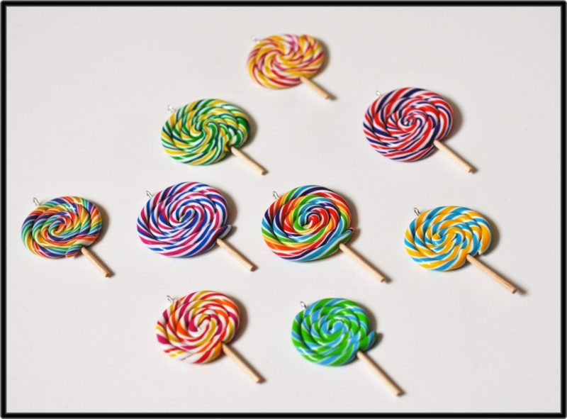 sucette lollipop fimo