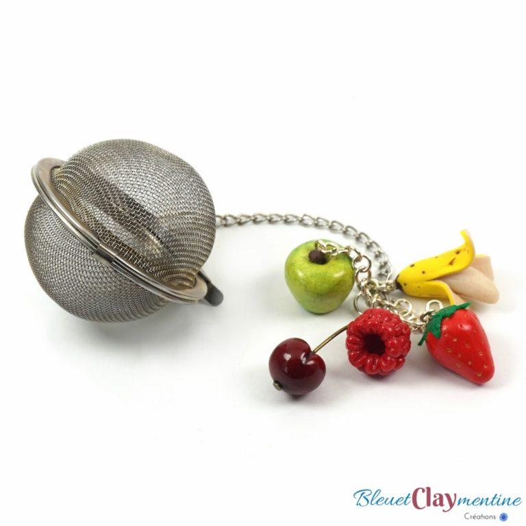 boule à thé 5 fruits polymère fimo