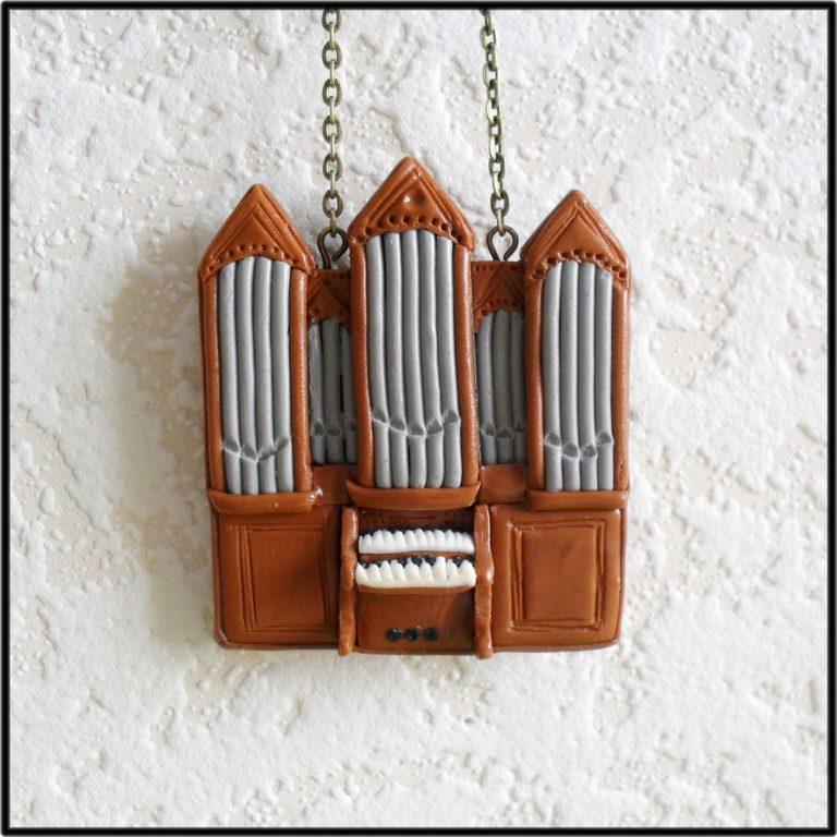 collier orgue polymère fimo