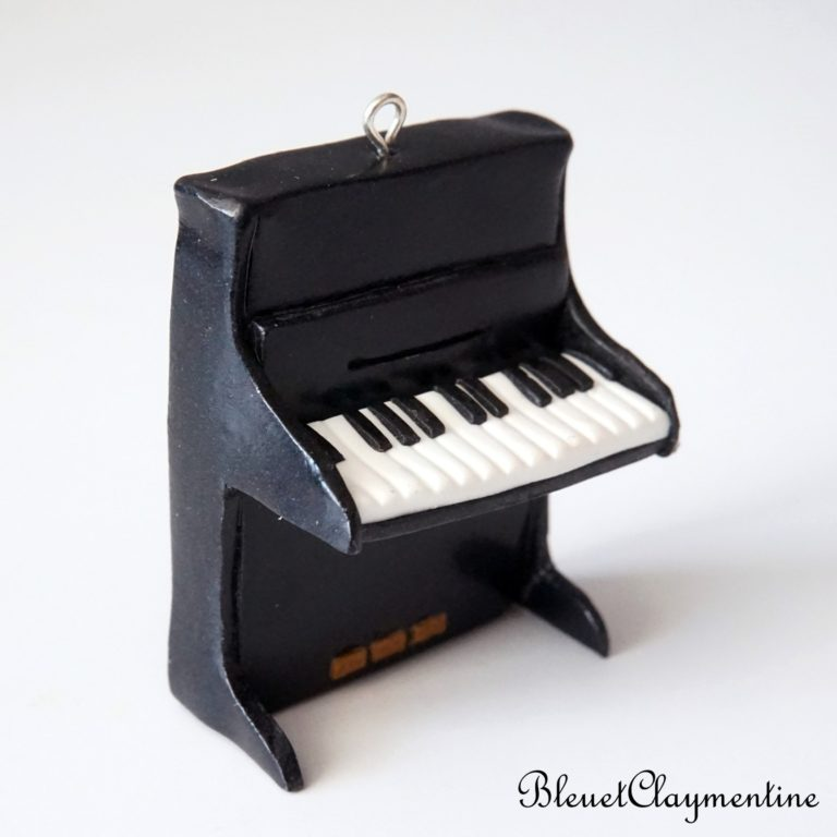 piano droit polymère fimo