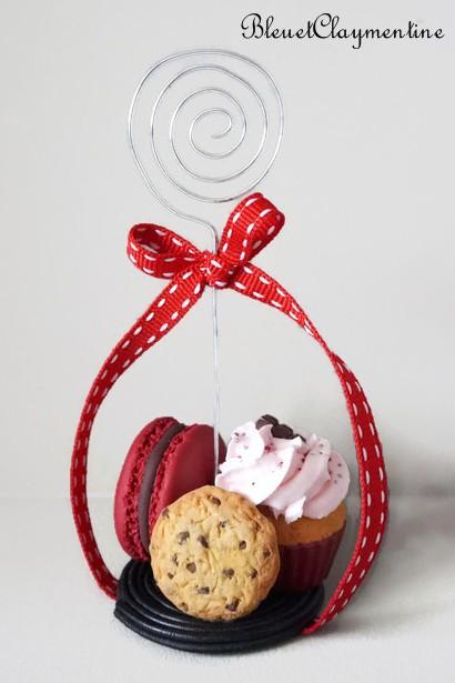 porte photo réglisse macaron cupcake cookies polymère fimo