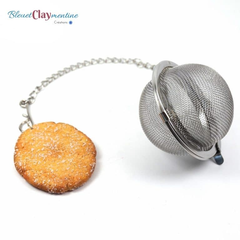 face biscuit boule à thé polymère