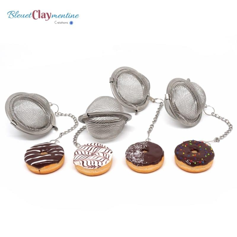 boule à thé donut - tea ball polymerclay fimo