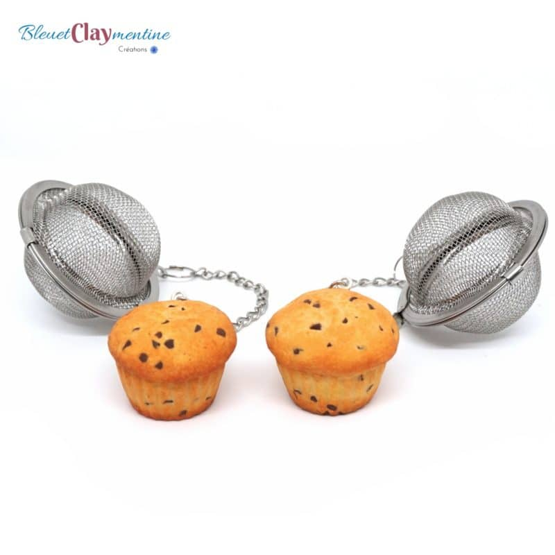 boule à thé muffins gourmands - tea ball polymerclay fimo