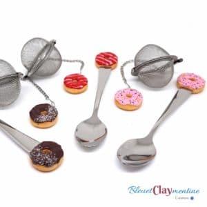 Boule à thé et cuillère – Ensemble donut