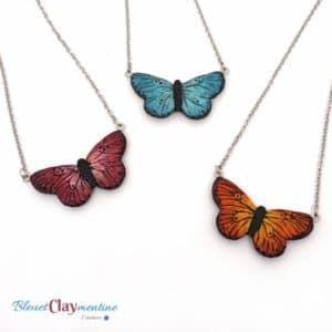 Collier papillon – 3 couleurs au choix