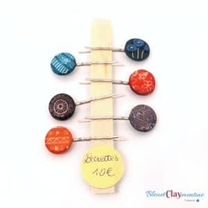 Barrette ronde – Plusieurs couleurs disponibles