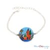 bracelet féerique maisons de fée bleu polymerclay